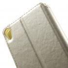 Sony Xperia XA Roar Noble ādas atvēramais zelta futrālis