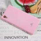 Sony Xperia XA1 Mercury gaiši rozs cieta silikona (TPU) apvalks