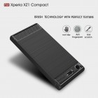 "Sony Xperia XZ1 Compact ""Carbon"" cieta silikona (TPU) melns apvalks"
