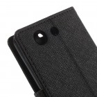 Sony Xperia Z3 Compact Mercury atvērams melns maciņš (maks)