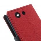 Sony Xperia Z3 Compact Mercury atvērams sarkans maciņš (maks)