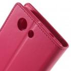 Sony Xperia Z3 Compact Mercury Sonata atvērams rozs ādas futrālis - maciņš