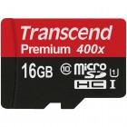 """Transcend"" Premium 400x MicroSD atmiņas karte 16 Gb, 10 klase"