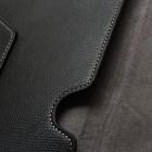 Universāls melns ādas 10.1 collas planšetdatoru maciņš