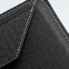 Universāls melns ādas 7 collas planšetdatoru maciņš