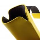 Universāla dzeltena ieliktņa ādas - futrālis (XL izmērs)