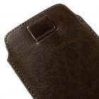 Universāla brūna ieliktņa ādas - futrālis (XL izmērs)