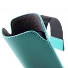 Universāla gaiši zila ieliktņa ādas - futrālis (XL izmērs)