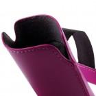 Universāla tumši roza ieliktņa ādas - futrālis (XL izmērs)