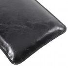 """Apple iPhone 8 Plus """"Vintage"""" universāls aizverams melns maciņš, ar kabatiņu kartem ielikt (XL+ izmērs)"""