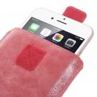 """Apple iPhone 8 Plus """"Vintage"""" universāls aizverams sarkans maciņš, ar kabatiņu kartem ielikt (XL+ izmērs)"""