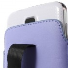 Gaiši violeta universāla ieliktņa ādas - futrālis (L+ izmērs)