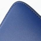 Tumši zila universāla ieliktņa ādas - futrālis (L+ izmērs)