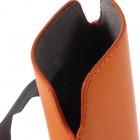 Oranža universāla ieliktņa ādas - futrālis (L+ izmērs)