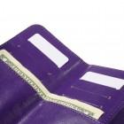 """Universāls """"Crazy Horse"""" aizverams violeta maciņš, ar kabatiņu kartem ielikt un iespēju piestiprināt pie siksnas (L+ izmērs)"""