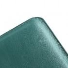 Universāls tumši zaļš ādas 10.1 collas planšetdatoru maciņš
