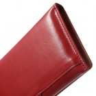 Universāls atvēramais sarkans ādas maciņš (XL+ izmērs)