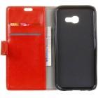Samsung Galaxy Xcover 4 / 4S (G390, G398) atvēramais sarkans ādas maciņš (maks)