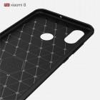 """Xiaomi Mi 8 """"Carbon"""" cieta silikona (TPU) melns apvalks"""