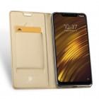 """Xiaomi Pocophone F1 """"Dux Ducis"""" Skin sērijas zelta ādas atvērams maciņš"""