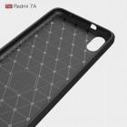"""Xiaomi Redmi 7A """"Carbon"""" cieta silikona (TPU) melns apvalks"""