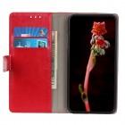 Xiaomi Redmi 7A atvēramais ādas sarkans maciņš, grāmata (maks)