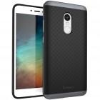 """Xiaomi Redmi Note 4X """"IPAKY"""" cieta silikona (TPU) melns apvalks (apmales - pelekā krāsā)"""