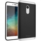 "Xiaomi Redmi Note 4X ""IPAKY"" cieta silikona (TPU) melns apvalks (apmales - sudrabā krāsā)"