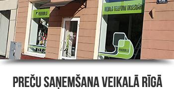Preču saņemšana veikalā Rīgā